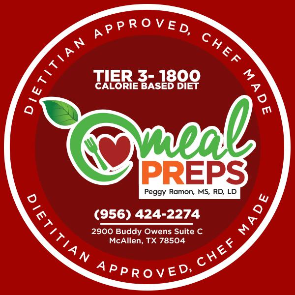 Tier 3- 1800 Calorie Based Diet